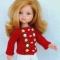 Купить Вязаная кофточка с вышивкой рококо для куклы Paola Reina 33 см, Одежда для кукол, Куклы и игрушки ручной работы. Мастер Оксана Алексеева (Ksydolldress) . hand made