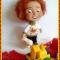 Купить Солнце конопатое, Войлочные, Коллекционные куклы, Куклы и игрушки ручной работы. Мастер Елена Масур (ElenaMasyr) . игрушка
