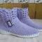 Купить Вязаные ботиночки, Демисезонная обувь, Обувь ручной работы. Мастер Надежда Зыбина (89293221436) . натуральный хлопок