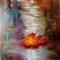 Купить Картина_Кленовый_лист_40х40см_масло_холст, Пейзаж, Картины и панно ручной работы. Мастер Кристина Spice-Art (Spice-Art) .
