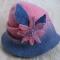 Купить Розово-серый клош, Шляпы, Головные уборы, Аксессуары ручной работы. Мастер Кира Сафонова (Kira) .