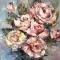 Купить Розовый туман, Картины цветов, Картины и панно ручной работы. Мастер Галина Комарова (galako) .