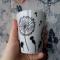 Купить Керамическая кружка Одуванчики, Кружки и чашки, Посуда ручной работы. Мастер Анна Мотева (Dgokonda) . авторская ручная роспись