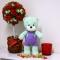 Купить Мятный мишка из плюшевой пряжи, Мишки, Мишки Тедди, Куклы и игрушки ручной работы. Мастер Елена Ермакова (Ermelena) .
