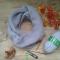 Купить Пуховый снуд  в 2 оборота с брошью ручная работа, Женские, Шарфы, шарфики и снуды, Аксессуары ручной работы. Мастер Лада Санарова (RomashkaLada) .