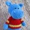 Купить Бегемотик, Другие животные, Зверята, Куклы и игрушки ручной работы. Мастер Дарья Марьина (brusnika203) . авторская игрушка