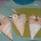 Купить Сердечки-подвески нежно персиковые, Подвески, Для дома и интерьера ручной работы. Мастер Милена Морозова (Milena) . подвеска сердечко
