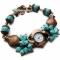 Купить Часы Морской сувенир, Часы, Украшения ручной работы. Мастер Нескучные вещи  (lele13) . бирюза