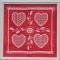 Купить Набор для вышивания Ажурный Валентин, Ручной работы, Наборы для вышивания, Вышивка ручной работы. Мастер Марина Гончарова (MaKu-design) . вышивание