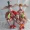 Купить Клоуны-музыканты, Зайцы, Зверята, Куклы и игрушки ручной работы. Мастер Ирина Бадюкова (Irinabdk) . интерьерная кукла