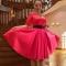 Купить ПЛАТЬЕ ВЕЧЕРНЕЕ АЛАЯ РОЗА, Шитые, Вечерние, Платья, Одежда ручной работы. Мастер лариса морозова (morozlora) . авторское платье