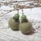 Купить Серьги из войлока Moss green, Войлочные, Серьги, Украшения ручной работы. Мастер Анастасия Боронтова (BoNa-BoNa) .