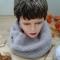 Купить Пуховый снуд  в 2 оборота с брошью ручная работа, Женские, Шарфы, шарфики и снуды, Аксессуары ручной работы. Мастер Лада Санарова (RomashkaLada) . пряжа разных цветов