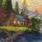 Купить Домик в лесу, Пейзаж, Картины и панно ручной работы. Мастер Анна Простова (Annalove) .