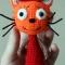 Купить Вязаная Карамелька из Три кота на заказ, Мультяшные, Сказочные персонажи, Куклы и игрушки ручной работы. Мастер Марина Мандрик (Mamaarseniya) . карамелька
