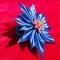 Купить Цветок из атласной ленты на резиночке, Заколки, Украшения ручной работы. Мастер Татьяна  (Hosta) . цветок заколка