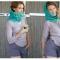 Купить шарф-труба или снуд цвета лазурь, Женские, Шарфы, шарфики и снуды, Аксессуары ручной работы. Мастер марья синькова (marja) . снуд