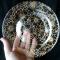Купить Элегантная стеклянная тарелочка Золотые цветы, Тарелки, Посуда ручной работы. Мастер Анна Мотева (Dgokonda) . тарелка