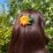 Купить Цветок заколка-брошь из атласной ленты, Украшения ручной работы. Мастер Татьяна  (Hosta) . брошь заколка