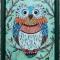 Купить Витражная картина Мятная совушка, Животные, Картины и панно ручной работы. Мастер Ирина  (ellu) . витраж