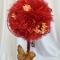 Купить Топиарии из бордовой органзы, Топиарии, Цветы и флористика ручной работы. Мастер Мария Коровина (MariKa) . купить топиарий