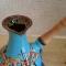 Купить Турка керамика синяя 270 мл, Чайники, кофейники, Посуда ручной работы. Мастер Анжела Кулиш (zhyvajavoda) . посуда