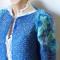 Купить Теплый вязаный кардиган в синих тонах, Пиджаки, жакеты, Одежда ручной работы. Мастер Варвара Хорошева (varvara911) .