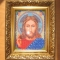 Купить Икона Иисус Христос вышитая бисером, Иконы, Картины и панно ручной работы. Мастер Елена Моночкова (Cat-fold) . иисус христос