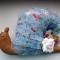 Купить Нежная улиточка в голубых тонах, Куклы Тильды, Куклы и игрушки ручной работы. Мастер Нафсет Кокенко (Nafset) .