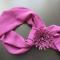 Купить шарф с брошью, Текстильные, Комплекты украшений, Украшения ручной работы. Мастер Елена Мозолина (cinderella) . дополнение к платью