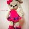 Купить Зайка - Малинка, Зайцы, Зверята, Куклы и игрушки ручной работы. Мастер Анастасия Шанина (Asiya02) . пряжа yarn art dolche