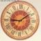 Купить Часы настенные Солнце Италии круглые терракота, Настенные, Часы для дома, Для дома и интерьера ручной работы. Мастер Светлана Тавлесан (Tavlesan) . часы настенные авторские