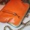 Купить Сумка кожаная апельсинового цвета, Кожаные, Повседневные, Женские сумки, Сумки и аксессуары ручной работы. Мастер Светлана Лисицына (SpringBird17) .